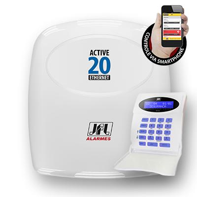 Detalhes do produto Central de alarme monitorável - JFL Active-20 Ethernet