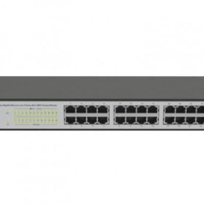 Detalhes do produto SG 2404 MR Switch Gerenciável 24 portas Gigabit Ethernet com 4 portas Mini-GBIC compartilhadas - Intelbras