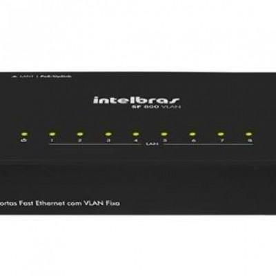 Detalhes do produto SF 800 VLAN Switch 8 portas Fast Ethernet com VLAN Fixa - Intelbras