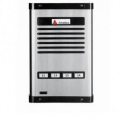 Detalhes do produto Porteiro Eletrônico Coletivo Amelco 04 Pontos Unidade Externa AM-PPR04
