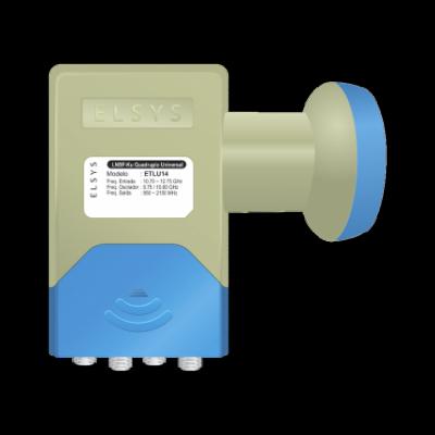Detalhes do produto LNBF universal Ku quádruplo - Elsys