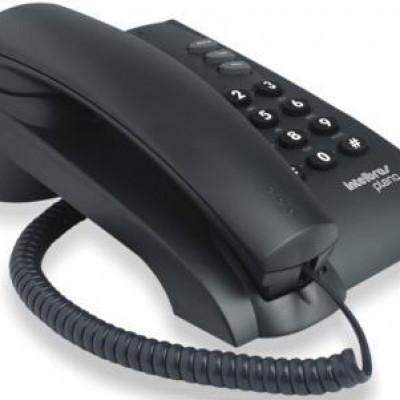 Detalhes do produto Telefone Com Fio Pleno Preto - Intelbras