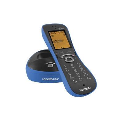Detalhes do produto TELEFONE SEM FIO TS 8220 AZUL -  INTELBRAS