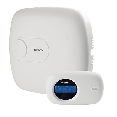 Detalhes do produto AMT 2010 Central de alarme monitorada com 10 zonas (4 + 4 + 2 com fio + 16 sem fio) - Intelbras