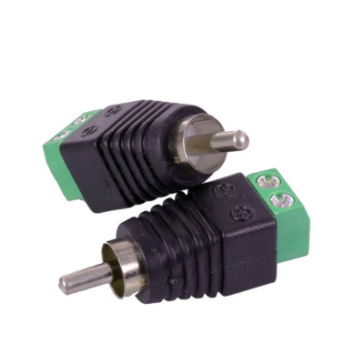 Detalhes do produto Conector RCA Macho C/ Fixação em Borne 2 Vias