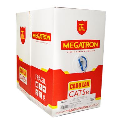 Detalhes do produto Cabo De Rede (Lan) Cat. 5e 100% cobre Caixa 305Mts - Megatron