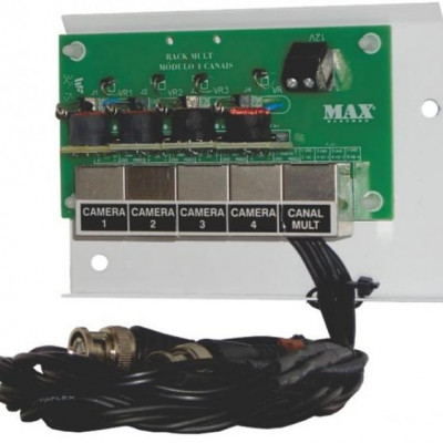 Detalhes do produto Organizador Junior Mult RJ45 Módulo 4 Canais - Max Eletron