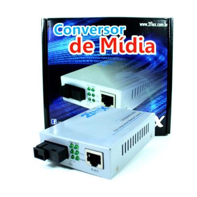 Detalhes do produto Conversor de Mídia Giga - 2FLEX